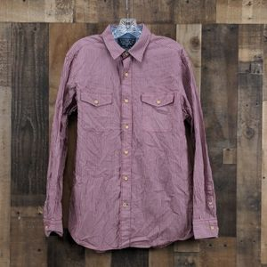 Nautica Red Button Up Shirt Size M